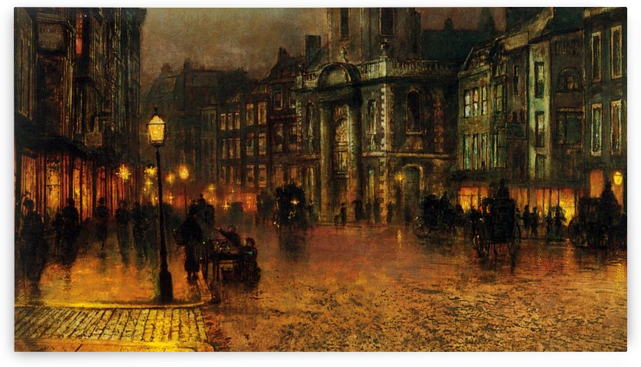 A night in the city by John Atkinson Grimshaw