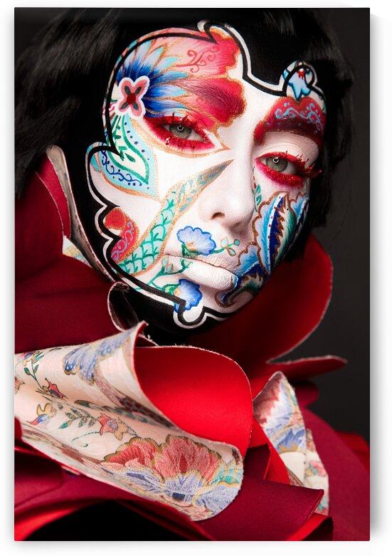 japanese motive face art by Dmitro Inozemtsev