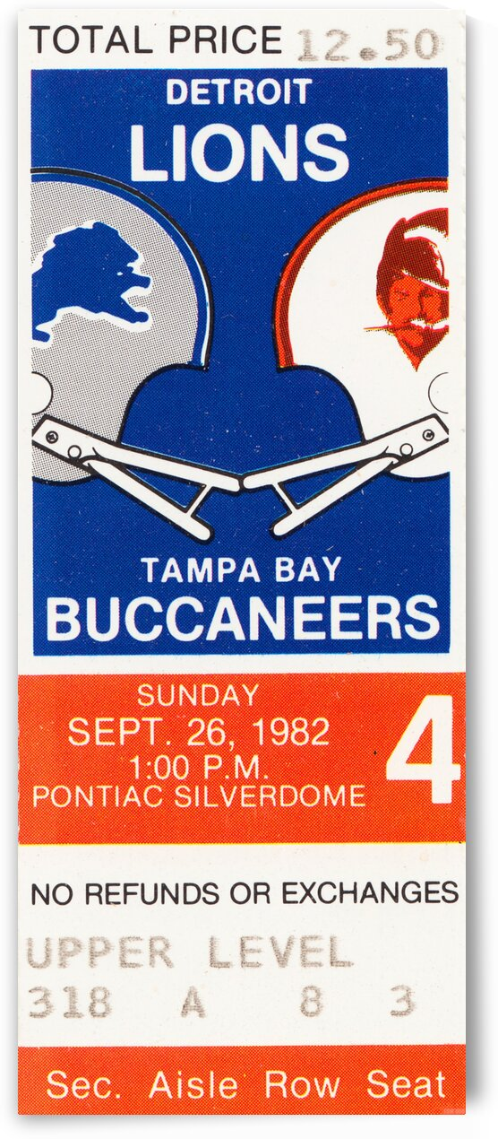 1982 Tampa Bay vs. Detroit by Row One Brand