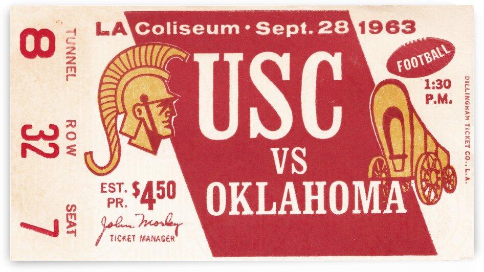 1963 Oklahoma vs. USC by Row One Brand