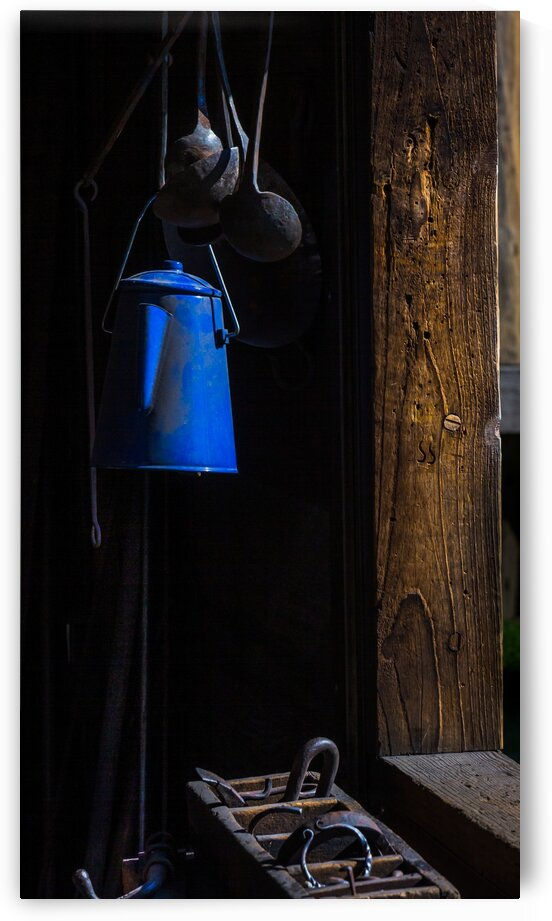 The Old Blue Coffeepot by bj clayden photography
