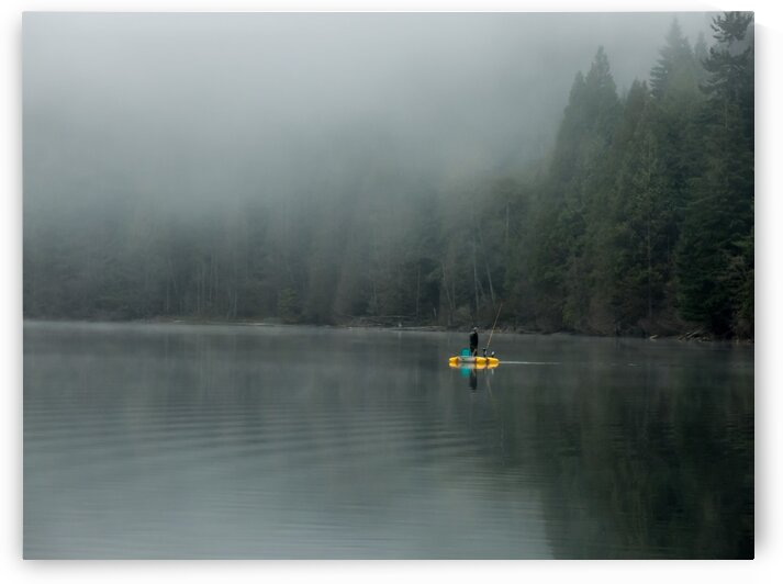 Fishing in the Fog by bj clayden photography