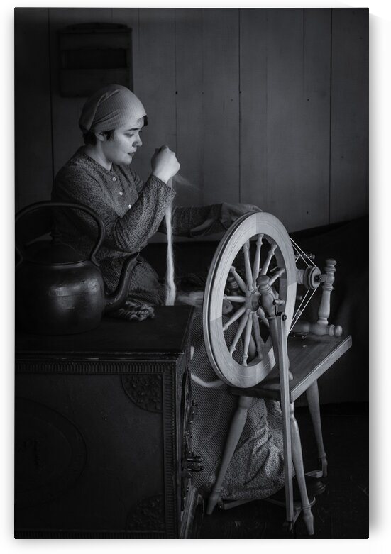 Spinning Wool by bj clayden photography