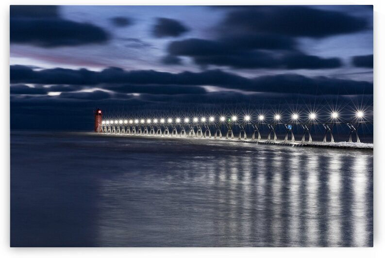 South Haven Winter Pier by James W Gray
