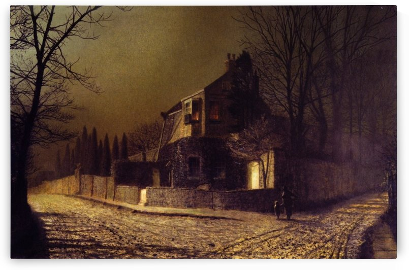 Yew Court, Scalby, near Scarborough by John Atkinson Grimshaw