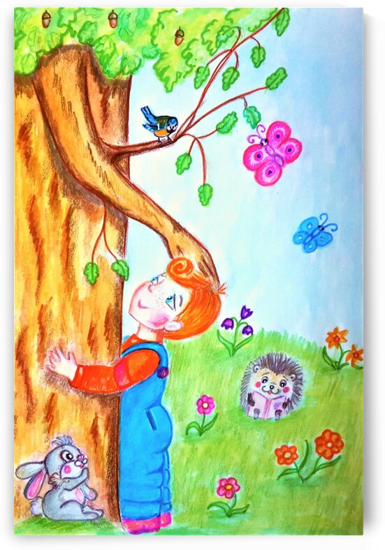 The tree of the prophetic forest and the child by Ivan Venerucci Italian Style
