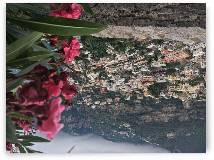Flowers over Positano  by Greg Brzozowski
