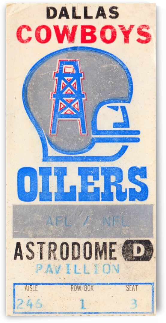 1970s Dallas Cowboys vs. Houston Oilers by Row One Brand