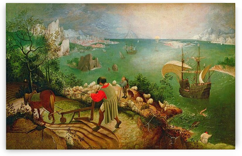 Pieter Bruegel the Elder: Landscape with the Fall of Icarus HD 300ppi by Famous Paintings