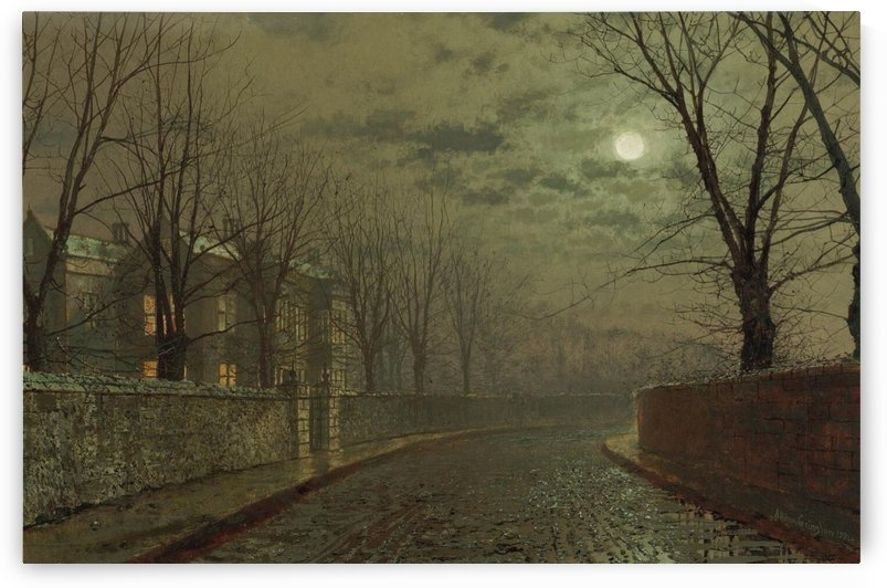 Silvery Moonlight by John Atkinson Grimshaw