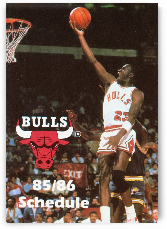 1985 Michael Jordan Chicago Bulls Pocket Schedule  by Row One Brand