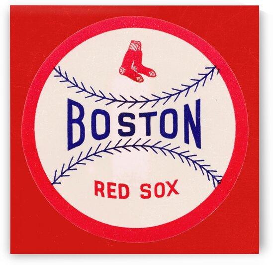 1960 Vintage Boston Red Sox Art  by Row One Brand