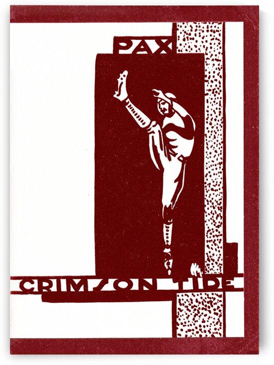 1930 Alabama Football Pax Crimson Tide by Row One Brand