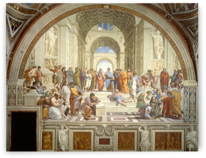 Raphael: The School of Athens HD 300ppi by Famous Paintings