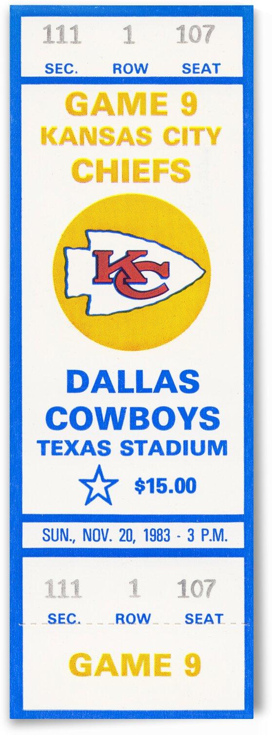 1983 Dallas Cowboys vs. Kansas City by Row One Brand
