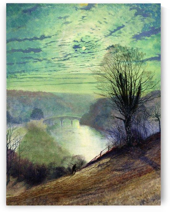 On the Tees near Barnard Castle by John Atkinson Grimshaw