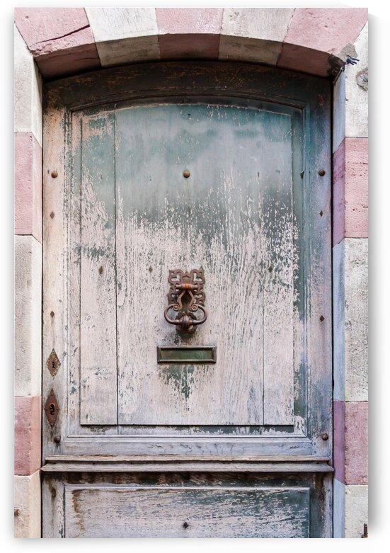 Ancient Door with rusty knocker by bj clayden photography