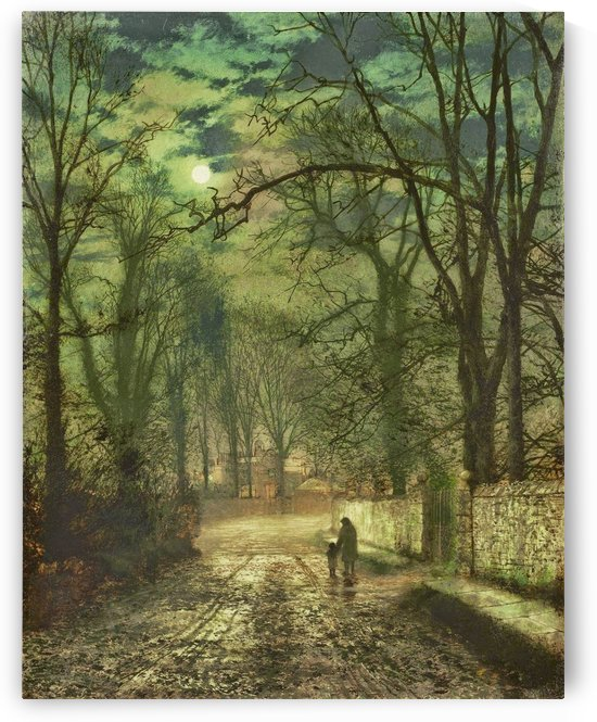 Figures in moonlight by John Atkinson Grimshaw