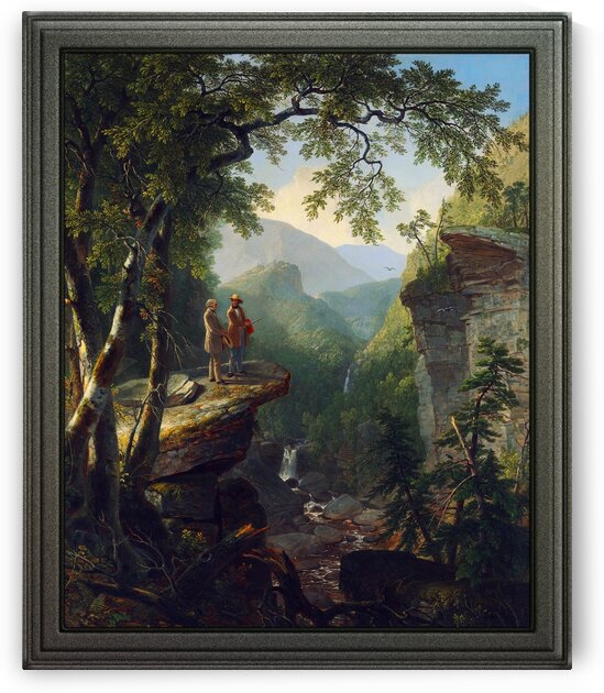 Kindred Spirits by Asher Brown Durand Old Masters Reproduction by xzendor7