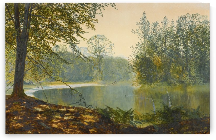 The quiet of the lake, Roundhay Park by John Atkinson Grimshaw