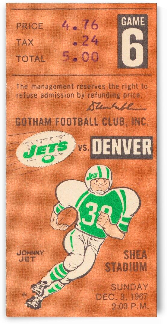 1967 New York Jets vs. Denver by Row One Brand