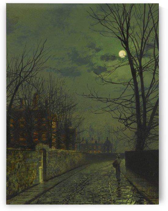 A moonlit street after rain by John Atkinson Grimshaw