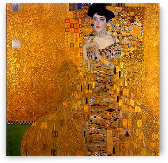 Gustav Klimt: Portrait of Adele Bloch-Bauer I - The Lady in Gold HD 300ppi  by Famous Paintings