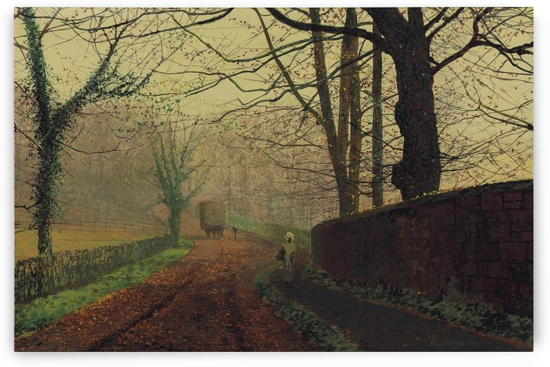 Stapleton Park, near Pontefract, Leeds by John Atkinson Grimshaw