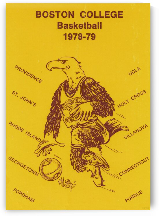 1978 Boston College Basketball by Row One Brand