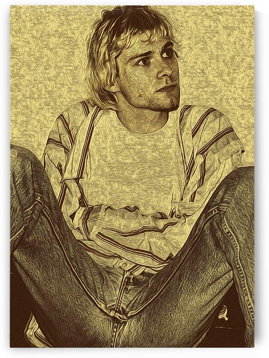 Kurt Cobain Vintage 3 by RANGGA OZI
