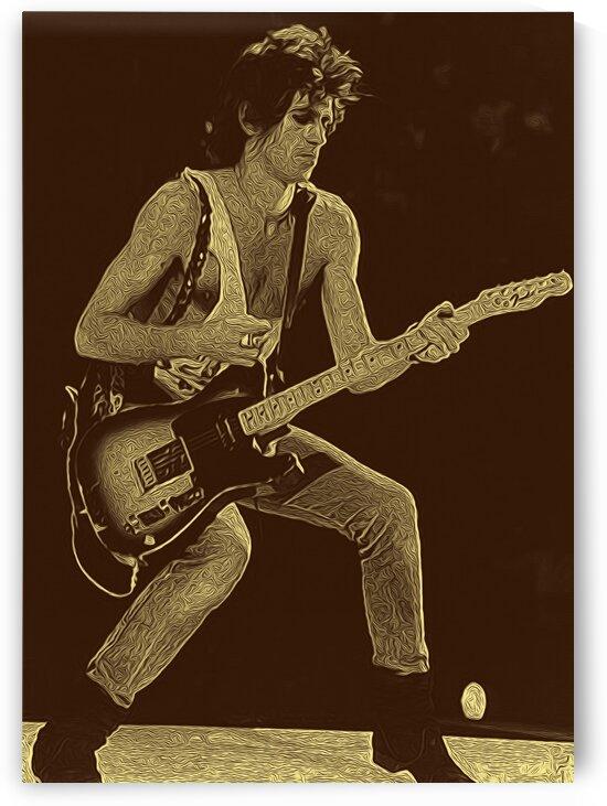 Keith Richards Vintage Painting 27 by RANGGA OZI