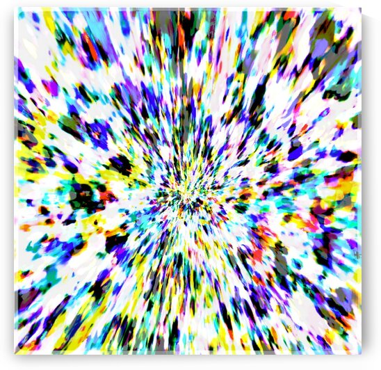 TIE DYE MIX WHITE ABSTRACT COLOURED PATTERN  by BelindaJL