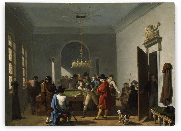 The Billiard Room by Nicolas Antoine Taunay