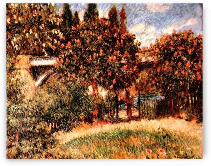 Railway bridge of Chatou by Renoir by Renoir