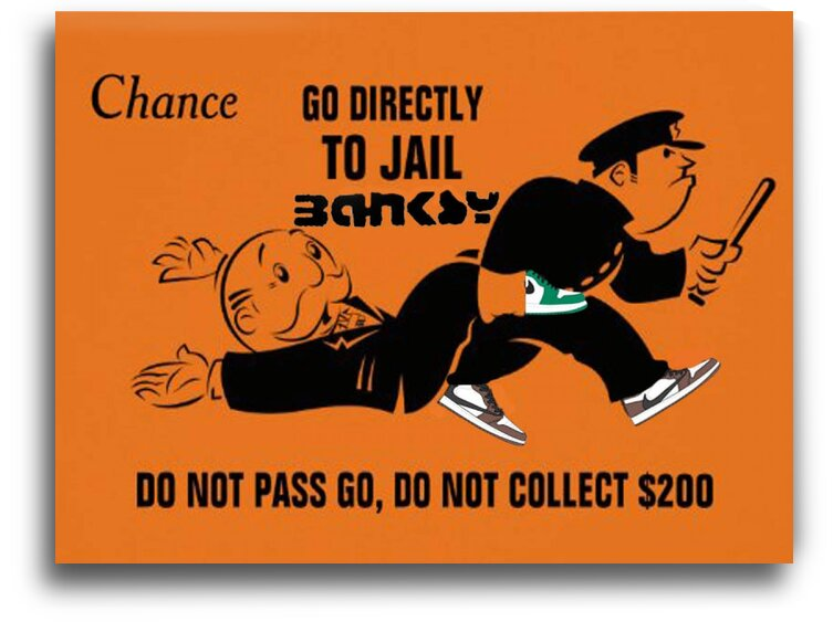 Banksy go to jail by Betojimenez