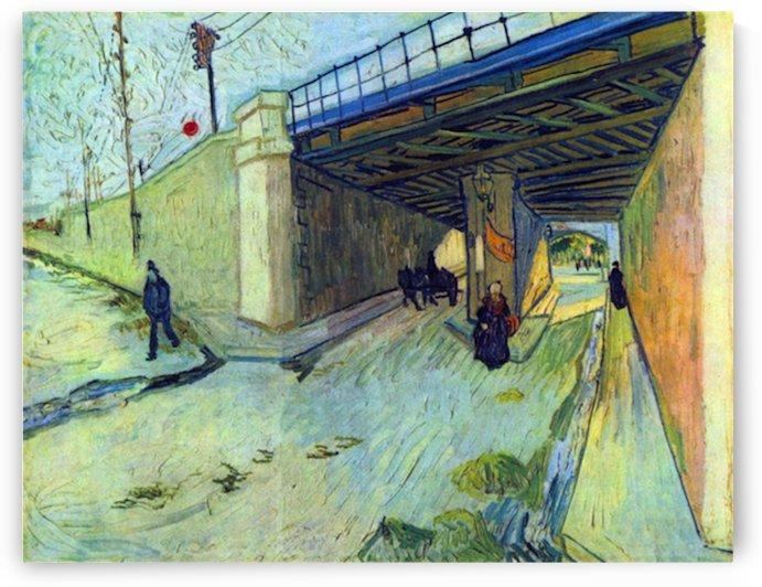 Railway bridge on the road to Tarascon by Van Gogh by Van Gogh
