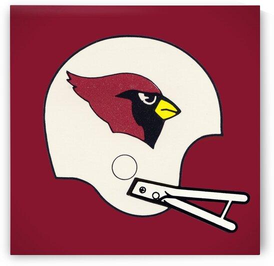 1982 Cardinals Football Helmet Art by Row One Brand