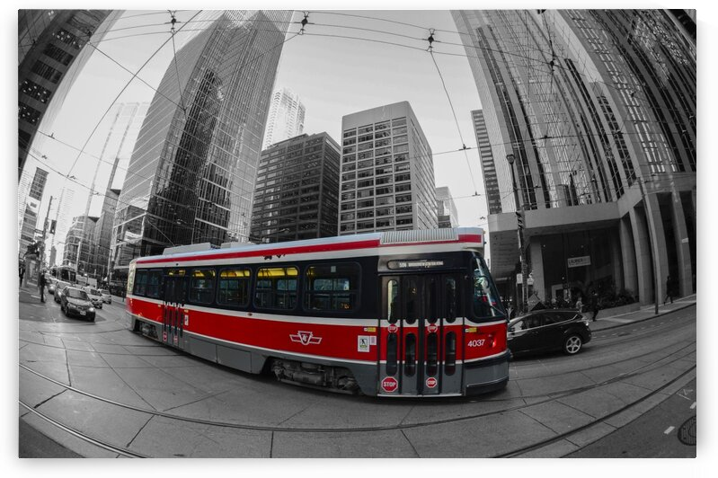 Toronto tramway by Jacques Frenette