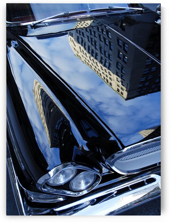 Car reflection by Jacques Frenette