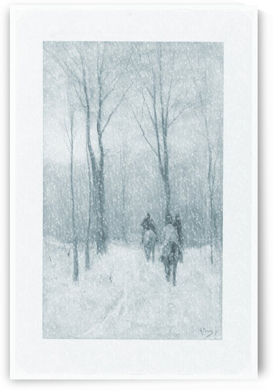 Riders In The Snow by pourquoi art
