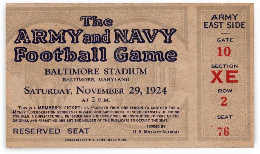 1924 Army vs. Navy by Row One Brand