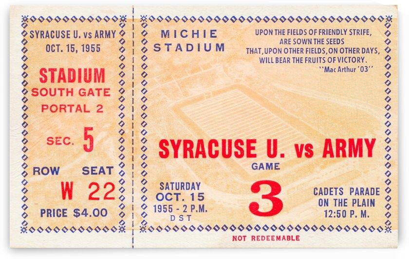 1955 Army vs. Syracuse by Row One Brand
