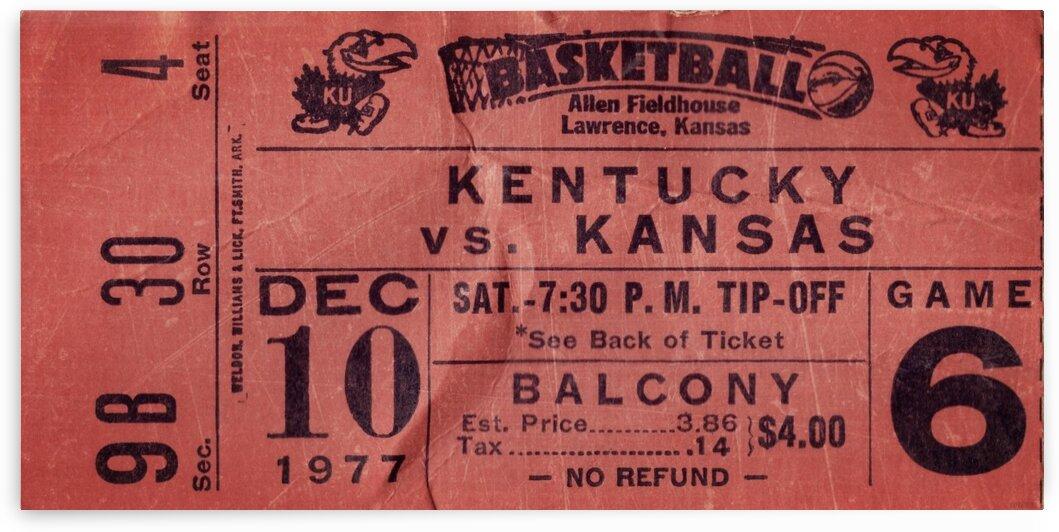 1977 Kansas Jayhawks vs. Kentucky Basketball by Row One Brand