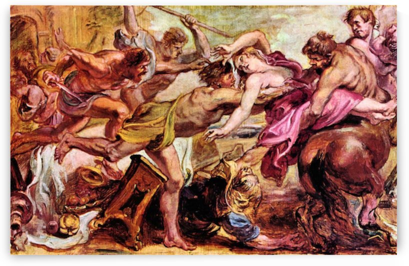 Rape of Hippodameia by Rubens by Rubens
