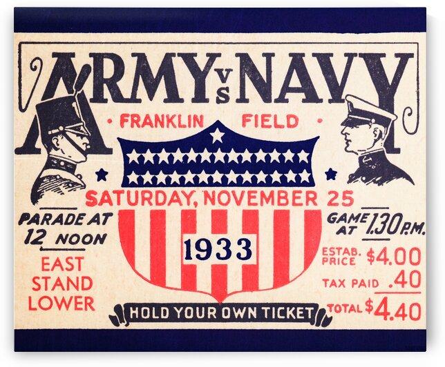 1933 Army vs. Navy by Row One Brand