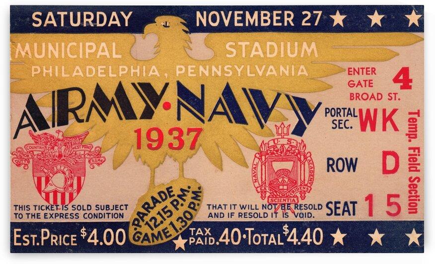 1937 Army vs. Navy by Row One Brand