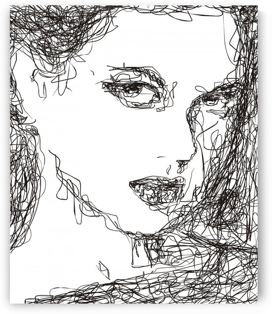 abstract lady face by Varun Tandon