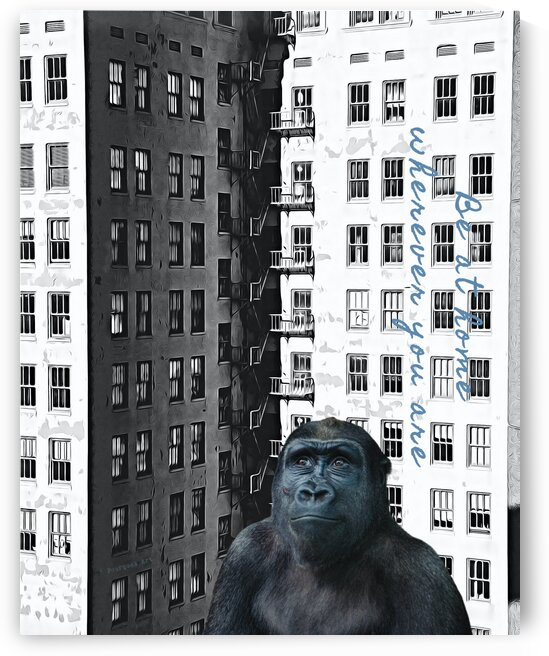 Urban Gorilla At Home by pourquoi art
