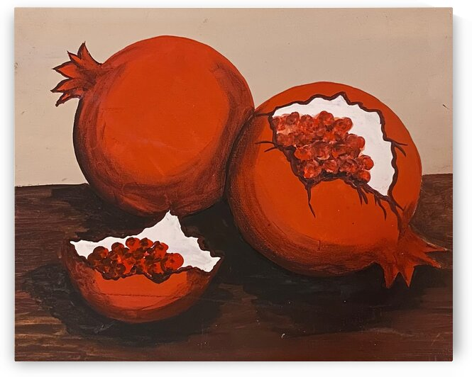 pomegranate painting by Christy Val