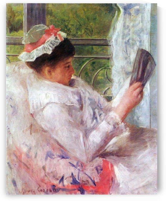 Reading Mrs. (Lydia Cassat) by Cassat by Cassatt